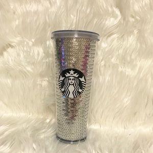 NEW Starbucks Silver Sequin 24oz Tumbler RARE